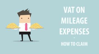 VAT on mileage expenses header image for blog post